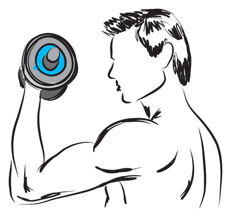 work-out illustration 2 Vector