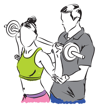 work-out illustration Vector