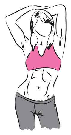 work-out illustration 5 Vector