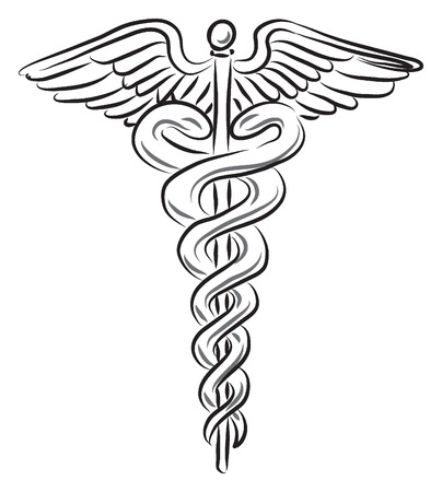 pediatrician: medical symbol illustration Illustration