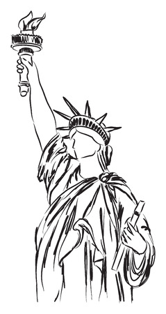 statue of liberty illustration Illustration
