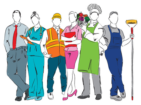 careers professional ocuppations illustration C