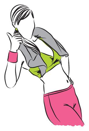 work-out illustration B Illustration