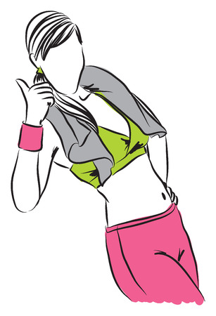 work-out illustration B Vector