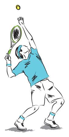 テニス プレーヤーの図  イラスト・ベクター素材