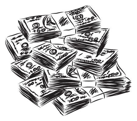 geld: geld Amerikaanse dollars illustratie Stock Illustratie