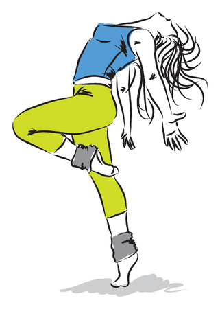 hip hop dancer:  dancer illustration 2