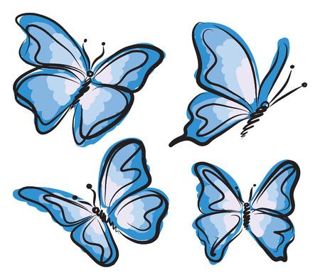 Blauer Schmetterling Abbildung Standard-Bild - 30033155