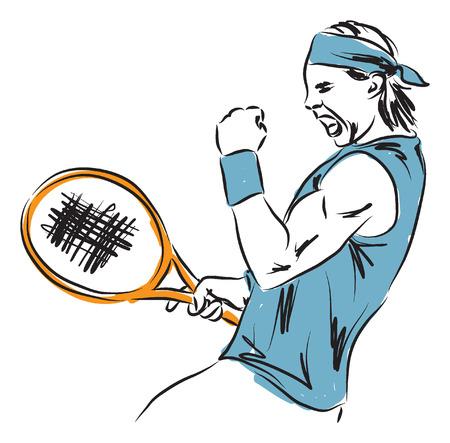 tennis player illustration Vector