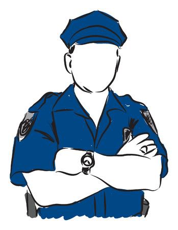 policeman illustration