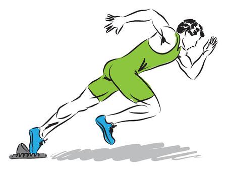 professional runner illustration Vector