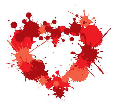 love heart dots illustration