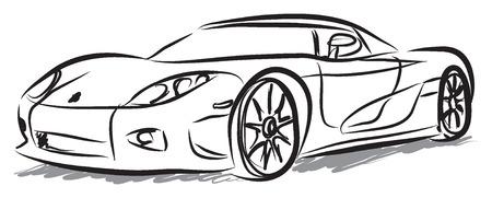 racewagen illustratie