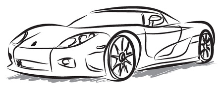 vehicle graphics: racing car illustration