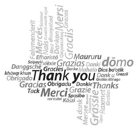 thank you texture text illustration Vector