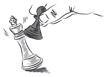 チェスの作品イラスト ビジネス コンセプト
