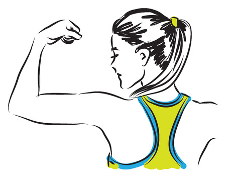 fitness woman illustration 向量圖像