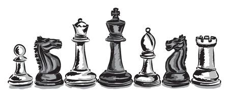 체스 게임 조각 개념 그림 스톡 콘텐츠 - 31500183