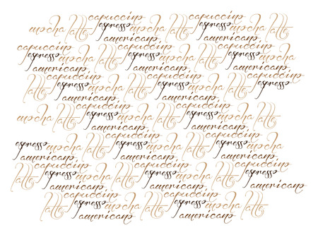 text typography coffee illustration texture Vector