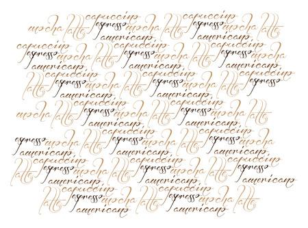 text typography coffee illustration texture Illustration