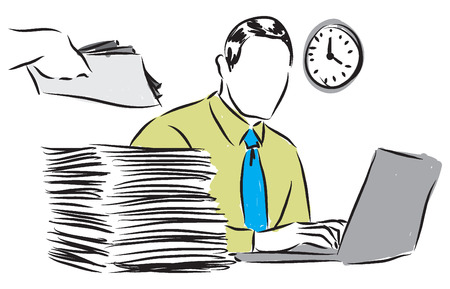 mousepad: business paperwork illustration