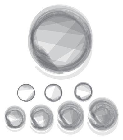 creative arts: circles transparency gems illustration elements Illustration