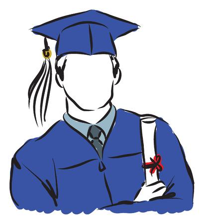 diplom studen: Doktorand Illustration Illustration