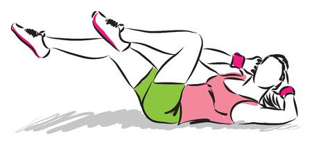 woman fitness illustration