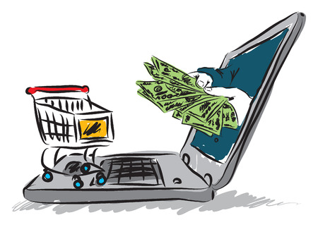 decoratiion: e-commerce illustration