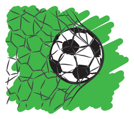 soccer goal: football soccer illustration Illustration
