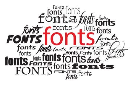 fonts belettering illustratie