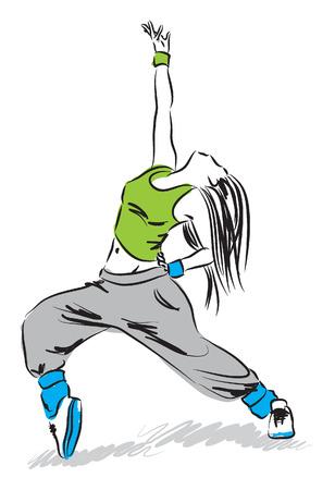 baile moderno: HIP HOP ilustraci�n DANCER copie Vectores