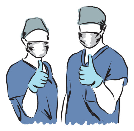 medical staff illustration Vectores