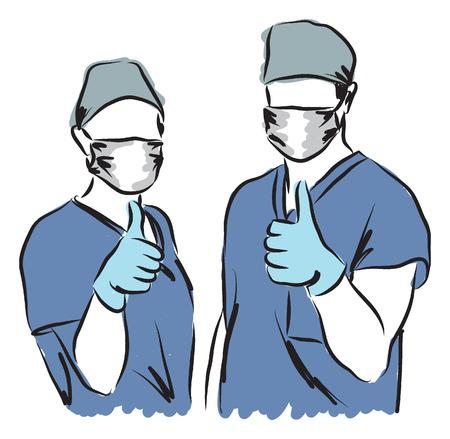 medical staff illustration Vettoriali