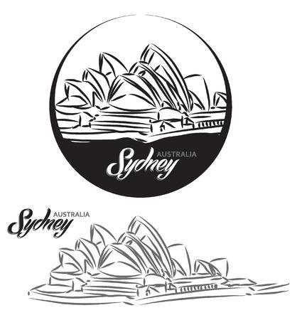 turistic: TURISTIC LABEL Sydney Australia lettering illustration