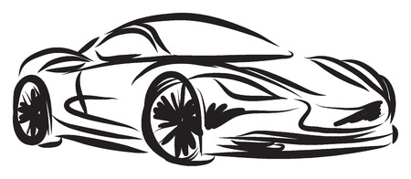 stylized racing car illustration Vectores