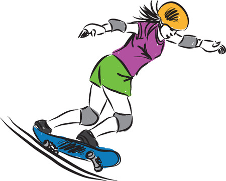 skateboard B illustration