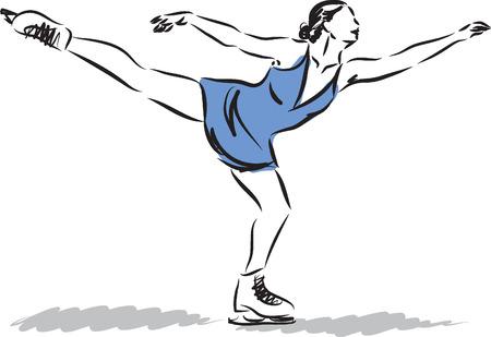 iceskating: ice-skating D illustration