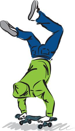 skateboard man illustration