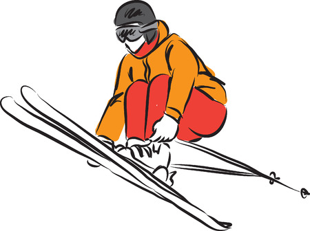 스키 점프 3 그림 일러스트