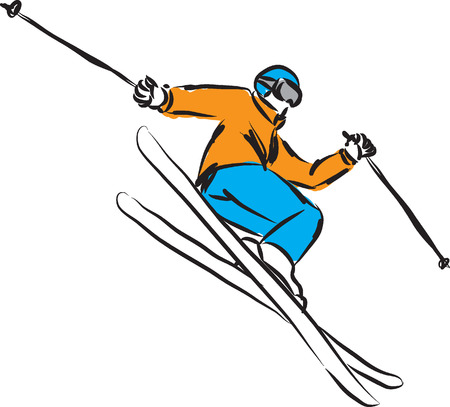 ski jumping 4 illustration Vector