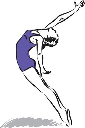 modern dancer: dancer illustration 2