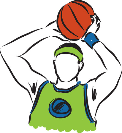 basketball player illustration Vector