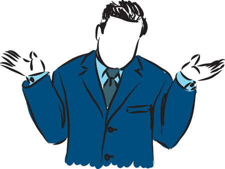 Hombre de negocios por qué ilustración Foto de archivo - 37447759