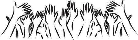 puños cerrados: ilustración manos Vectores