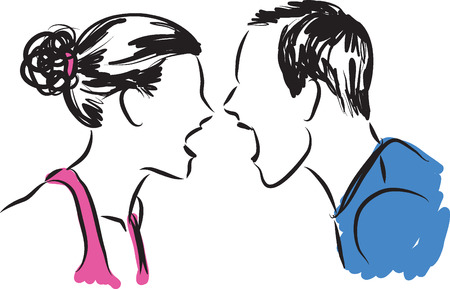 couple illustration 2....... Vectores