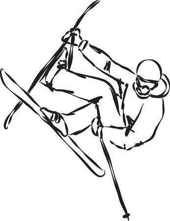 ski jump: ski jump illustration 2