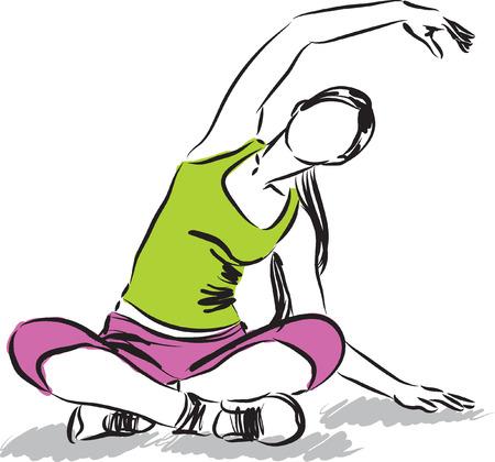 girl illustration: Ilustraci�n de la muchacha de la aptitud