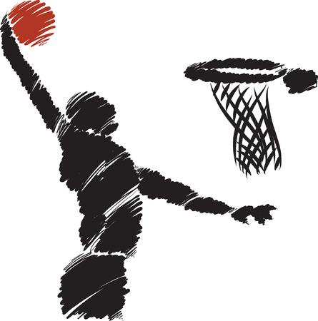 canestro basket: Giocatore di basket illustrazione