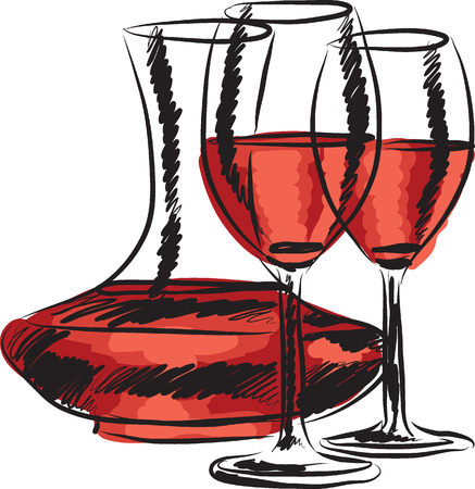 stock clip art icons: wine illustration